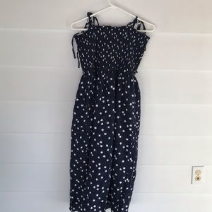 Aerie smocked button down dress